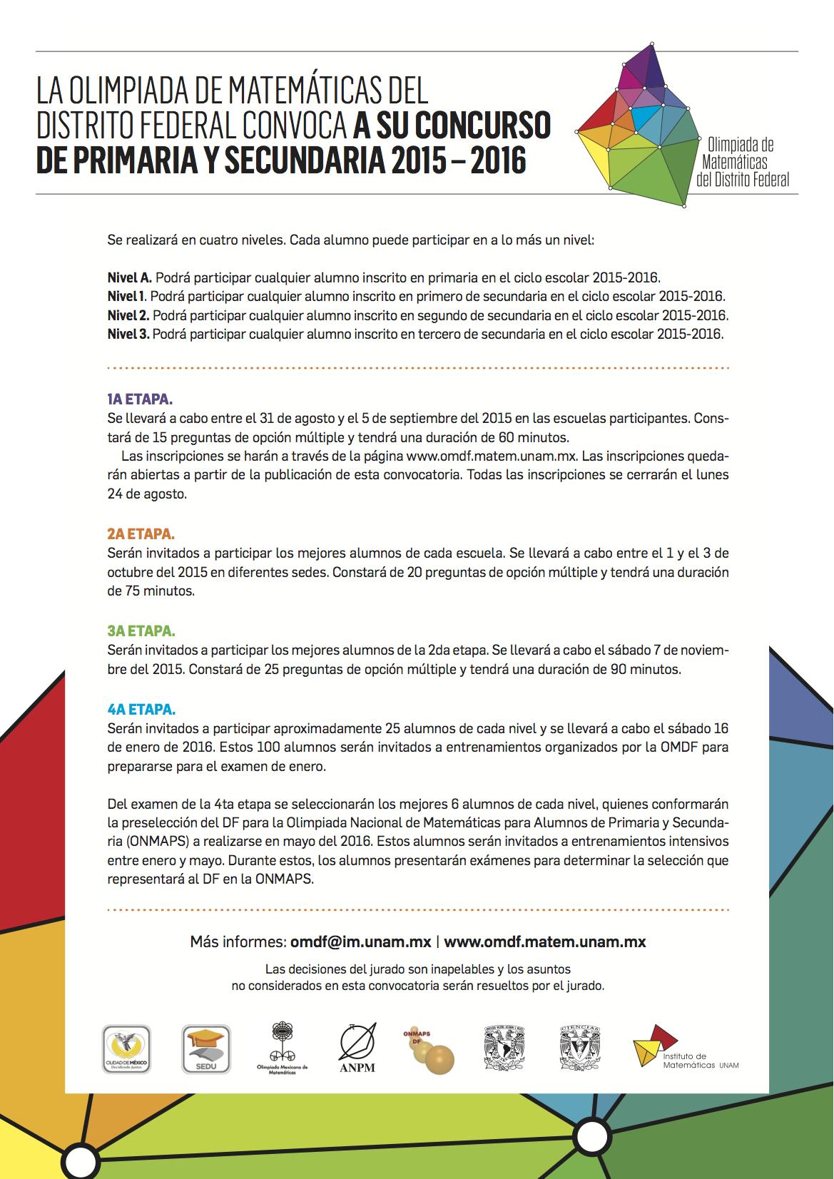 Concurso de Primaria y Secundaria 2015-2016