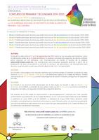 Convocatoria Concurso de Primaria y Secundaria 2019-2020