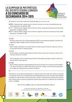 Convocatoria Concurso de Secundaria 2014-2015